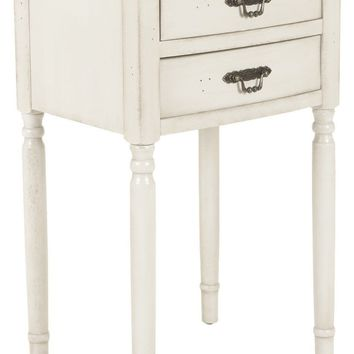 Marilyn End Table With Storage Drawers White