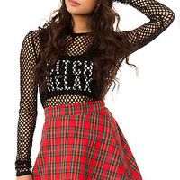 The Grunge Plaid Skirt in Red