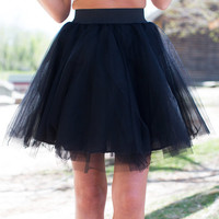 On Point Tulle Skirt Black