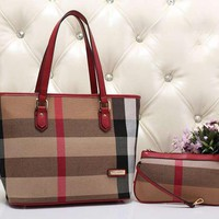 Burberry Women Fashion Leather Shoulder Bag Satchel Crossbody