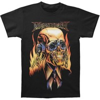 Megadeth Men's  Vic Rattlehead Mens Regular T T-shirt Black