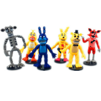 Anime figure Five Nights at Freddy's PVC Action figure Freddy Figurine Foxy 9cm Collection Model Kids Toys RETAIL OPP 6PCS SET