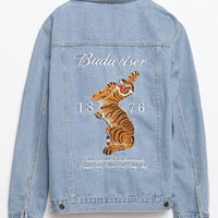 Been Trill x Budweiser Light Washed Denim Trucker Jacket at PacSun.com