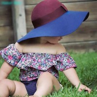 Summer Small broken flower baby girls clothes set cotton suit set Kids clothing infant clothing