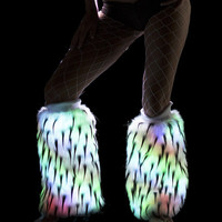 Black Spike Color Changing Light Up Fur Fluffies