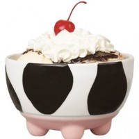 Boston Warehouse Udderly Cows Ice Cream Bowl