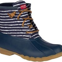 Saltwater Indigo Stripe Duck Boot