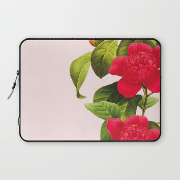 Botanical Light Kiss Laptop Sleeve by cadinera