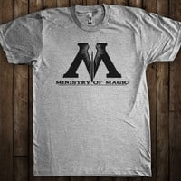 Ministry of Magic Harry Potter Graphic T-Shirt Hogwarts Quidditch Gryffindor