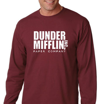 Dunder Mifflin Long Sleeve T-Shirt From the TV Show The Office