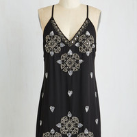 LBD Sleeveless Shift Heart and Seoul Dress by ModCloth