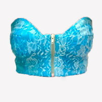 AllThingsGold — Blue Lace Bustier