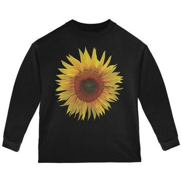 ESBGQ9 Giant Sunflower Toddler Long Sleeve T Shirt
