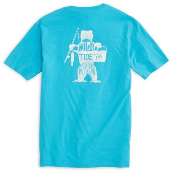 Wild with the Tide Bear Tee in Waterfall by Southern Tide
