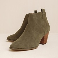 Baily Suede Booties By Chelsea Crew