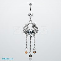 Fascinating Angel Heart Belly Button Ring