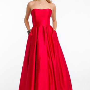 Strapless T-Length Ballgown