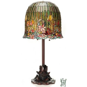 "River of Goods 29"" H Tiffany Style Pond Lily Stained Glass Table Lamp 13829"