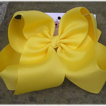 Jumbo X Large Boutique Hair Bow Choose Color Karens Creations