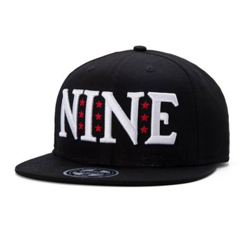 NINE Embroidered Hip-hop Baseball Cap Hat