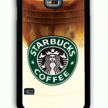 Samsung Galaxy S5 Case - Rubber (TPU) Cover with Iced Coffee Starbucks Rubber Case Design
