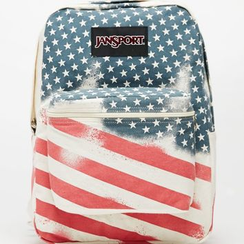 JanSport Super FX Stars School Backpack - Womens Backpack - White - NOSZ
