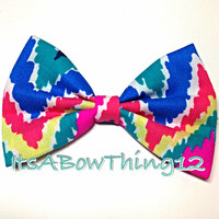 Lilly Pulitzer Multi Hearts A Flutter Chevron Printed Bow