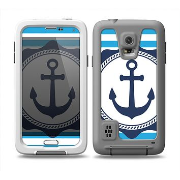 The Vector Navy Anchor with Blue Stripes copy Skin Samsung Galaxy S5 frē LifeProof Case
