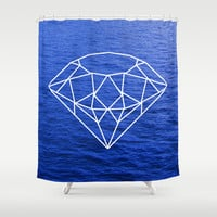 Heart of the Ocean Shower Curtain by Rachel Sample