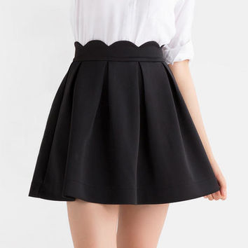 Lincoln Scalloped Skirt