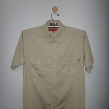 Chrismas Xmas Sale Vintage Supreme Workwear Shirt Made In USA Hunting Forest Uniform Jungle Casual With Pen pocket Holder Nice