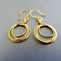 Little 24KGold Plated, Layered Hoop Earrings - Signature Design