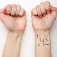 F*@# It  - Temporary Tattoo (Set of 2)