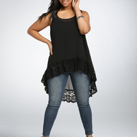 Plus Size Women Clothing 2017 Summer Women Blouses Big Size Blusas Sleeveless Black Lace Tank Tops Sexy Loose Chiffon Blouse 6XL