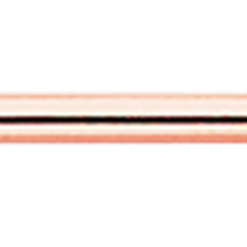 Rose Gold Colored PVD Industrial Barbell