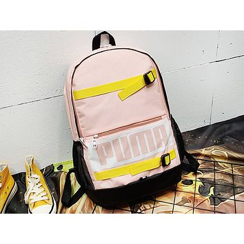 PUMA fashion hot seller casual lady patchwork printed shopping backpack Pink