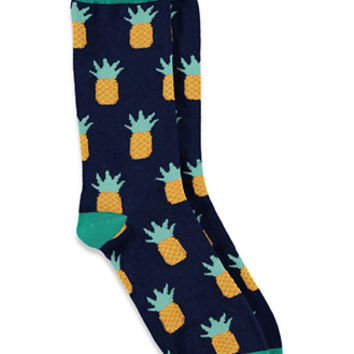 Colorblocked Pineapple Socks