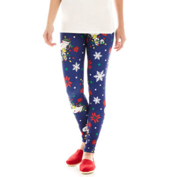 jcpenney | Peanuts Snoopy Ugly Holiday Leggings