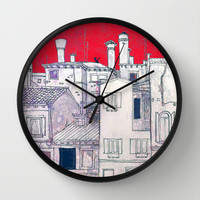 architectural sketch Wall Clock by Marianna Tankelevich