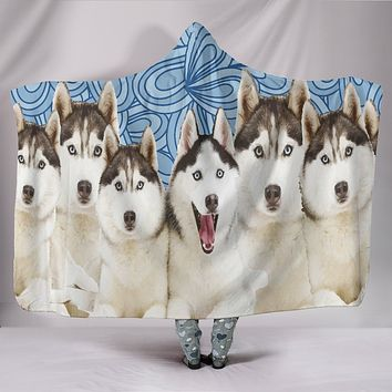 Huskies Hooded Blanket
