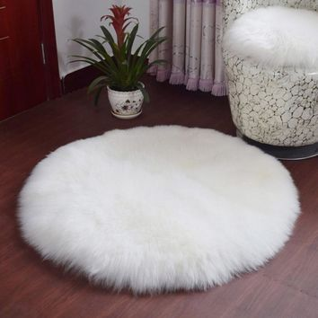 Soft Sheepskin Rug Chair Cover Artificial Wool Warm Hairy Carpet Room Seat Pad Skin Fur Area Rugs Artificial Textile