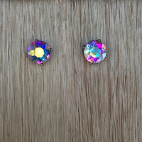 Crystal Love Earrings In Multi Color