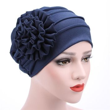 Spring Summer Beanie Hat Stretch Turban Hat Muslim Hijab