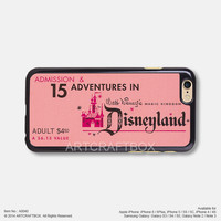 Disneyland ticket Free Shipping iPhone 6 6Plus case iPhone 5s case iPhone 5C case iPhone 4 4S case Samsung galaxy Note 2 Note 3 Note 4 S3 S4 S5 case 040