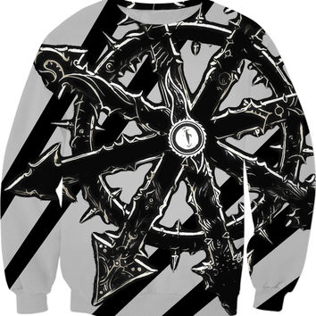 Black and silver star sweatshirt, spacemarines themed, rts gaming