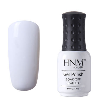 HNM Soak Off Color 1323-Sleek White  Gel Nail Polish Base Top Coat UV LED Manicure  8ml