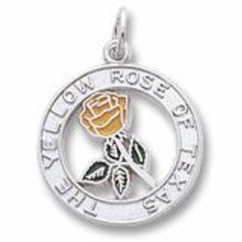 Yellow Rose Of Texas Charm In Sterling Silver