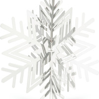 Folding Metal Silver Snowflake Christmas Decoration