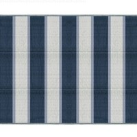 Camco 42871 Reversible Outdoor Mat (6' x 9', Blue Stripe)