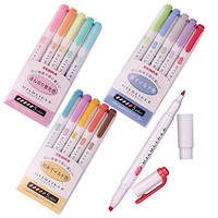 Zebra Mildliner Soft Color Double-Sided Highlighter Pens Deep, Warm & Cool (3 Pack Sale)